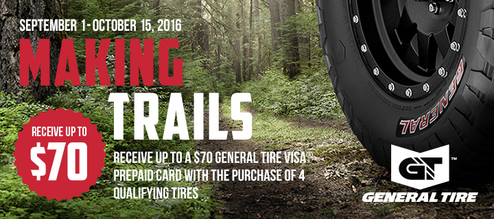 General Tire Making Trails With Promotion General Tire