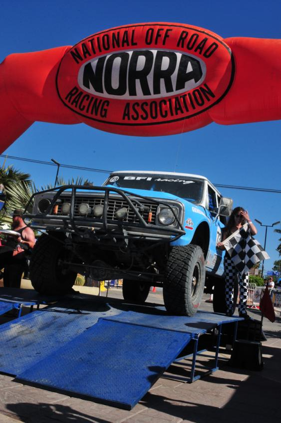 In San Jose del Cabo, the #73 Suburban crossed the finish line with a first place finish. They'd won their class for the fifth year, making one of the most (if not the most) winning teams of the new NORRA Mexican 1000.