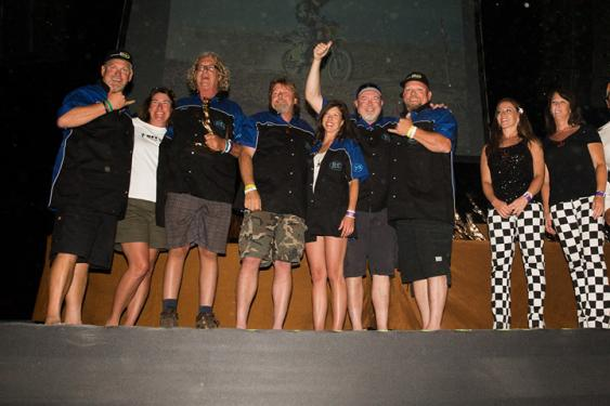 At the awards ceremony on the last night of the race, the audience showed how popular these guys were with the rest of the racers and crews as applause erupted with the crew's acceptance of their fifth first place trophy.