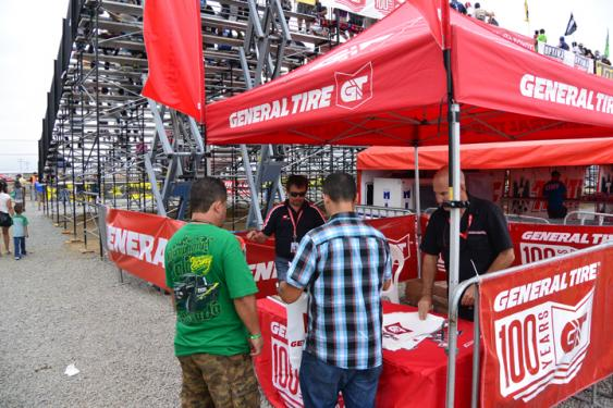 General Tire's booth at the Estero Beach Raceway.