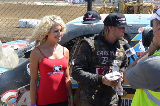 Woods' post-race interview with MAV TV and our new General Tire model, Lyndsey.