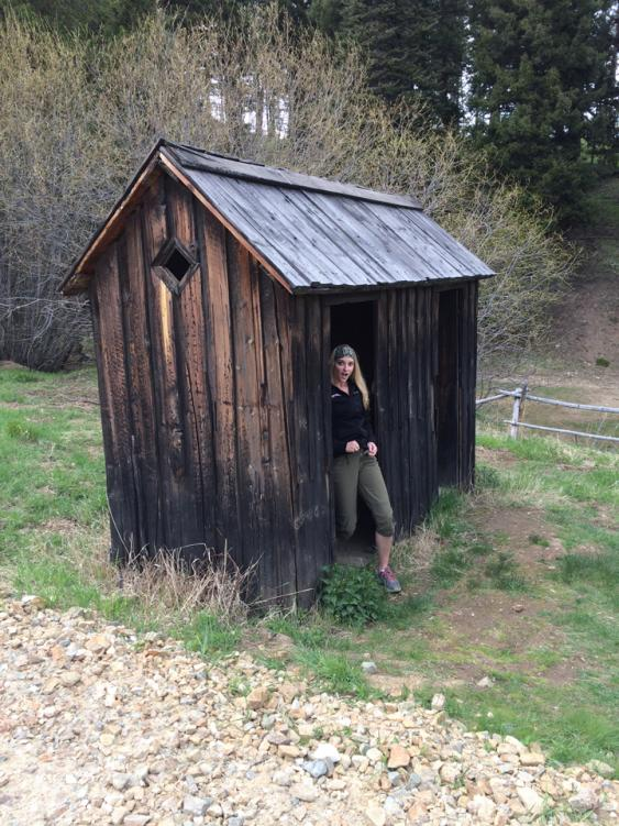 This is one of few original outhouses still standing in the ghost town of Garnet. There were a couple holes on some planks you basically sat on…you get the idea. Also, the fact that there was more than one hole per outhouse and they were less than two feet from each other teaches us that our ancestors were not shy.