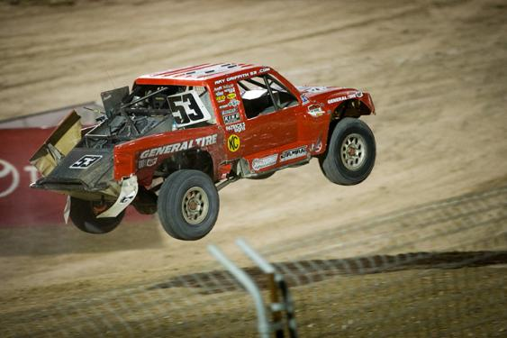 The #53 Pro Lite truck is driven by Ray Griffith in the Lucas Oil Off Road Racing series.